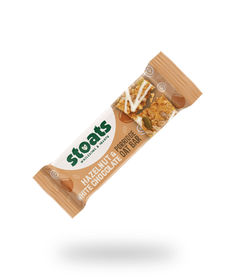Hazelnut & White Chocolate Porridge Bar 50g
